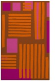 rug #1208275 |  red-orange abstract rug