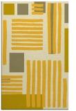 rug #1208311 |  yellow abstract rug