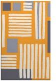rug #1208355 |  light-orange abstract rug