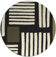 rug #1208383 | round black abstract rug