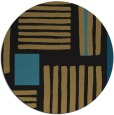 rug #1208387 | round brown abstract rug