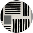 rug #1208507 | round black abstract rug