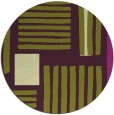 rug #1208607 | round green abstract rug