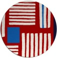 rug #1208619 | round red abstract rug