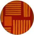 rug #1208623 | round orange popular rug