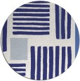 rug #1208659 | round white stripes rug