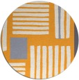 rug #1208723 | round light-orange stripes rug