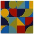 rug #1209127 | square blue circles rug