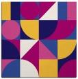 rug #1209195 | square blue-violet retro rug