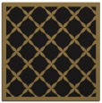 rug #120925 | square mid-brown borders rug