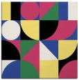 rug #1209299 | square black abstract rug
