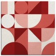 rug #1209363   square red circles rug