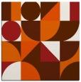 rug #1209383 | square red-orange circles rug