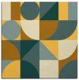 rug #1209427 | square yellow circles rug