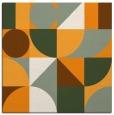 rug #1209455 | square light-orange circles rug