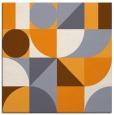 rug #1209459 | square light-orange circles rug