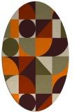 rug #1209463 | oval beige graphic rug