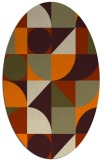 rug #1209465 | oval circles rug
