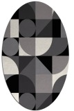 rug #1209467 | oval white abstract rug