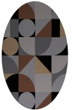 rug #1209471 | oval black retro rug