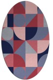 rug #1209556 | oval graphic rug
