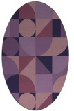 rug #1209559 | oval purple rug