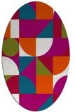rug #1209579 | oval red geometry rug