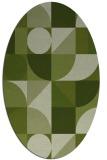 rug #1209591 | oval green abstract rug