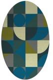 rug #1209595 | oval green circles rug