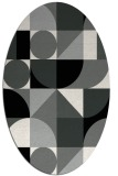 rug #1209611 | oval abstract rug