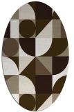 rug #1209627 | oval white abstract rug