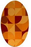 rug #1209675 | oval red-orange circles rug