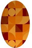 rug #1209678 | oval circles rug