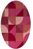 rug #1209699   oval pink retro rug