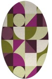 rug #1209711 | oval purple circles rug