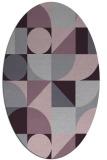 rug #1209719 | oval purple circles rug