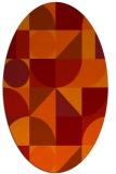 rug #1209728 | oval circles rug