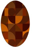 rug #1209739 | oval red-orange geometry rug