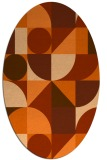 rug #1209743 | oval red-orange geometry rug