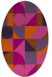 rug #1209747 | oval red-orange circles rug