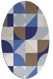 rug #1209763 | oval white abstract rug