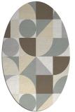 rug #1209771 | oval white abstract rug