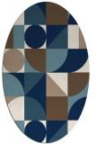 rug #1209775 | oval white abstract rug