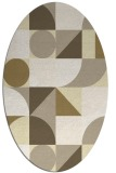 rug #1209787 | oval yellow circles rug