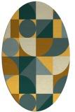 rug #1209795 | oval light-orange circles rug