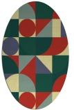rug #1209799 | oval yellow rug