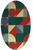 rug #1209801 | oval abstract rug