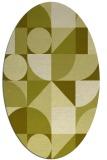 rug #1209803 | oval light-green abstract rug