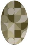 rug #1209807   oval light-green abstract rug