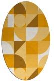 rug #1209819 | oval light-orange retro rug